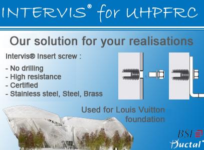 intervis for ultra high performance fiber reinforced concrete uhpfrc. Black Bedroom Furniture Sets. Home Design Ideas